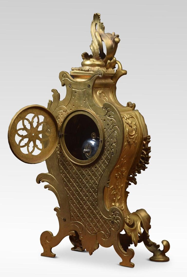 French Gilt Metal Mantel Clock 4