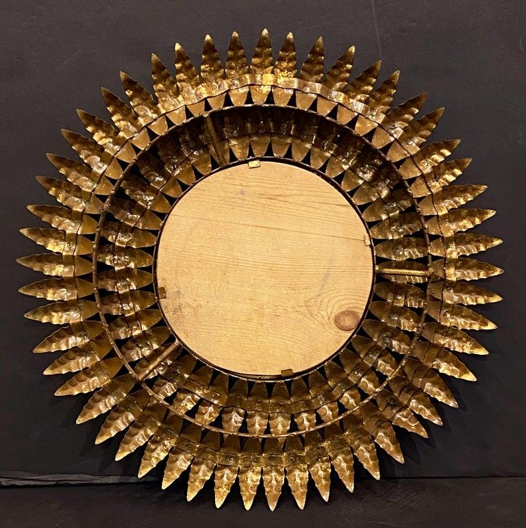 French Gilt Metal Sunburst Mirror (Diameter 20) For Sale 10