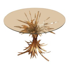 French Gilt Metal Wheat Sheaf Table