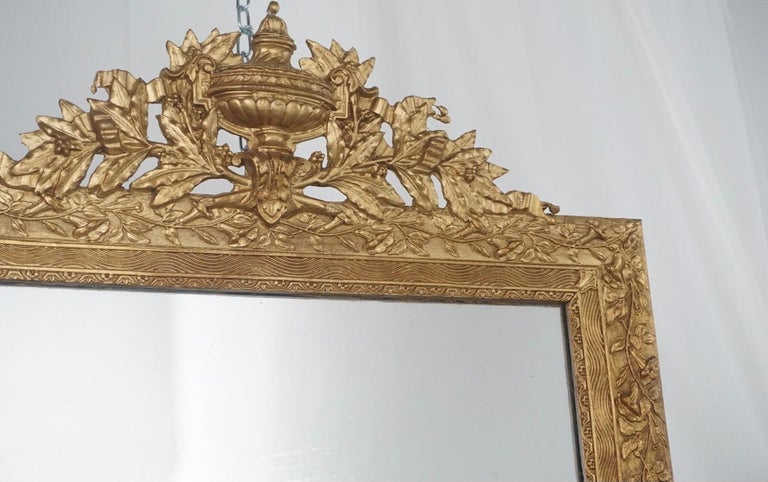 Louis XIV French Gilt Mirror For Sale