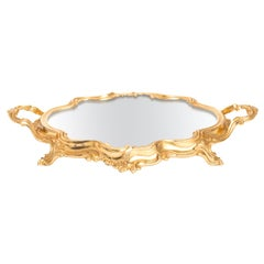 French Gilt Plateau Mirror