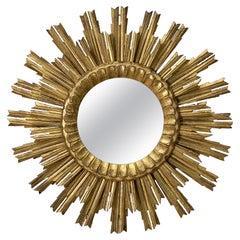 French Gilt Sunburst or Starburst Mirror (Diameter 24 1/2)