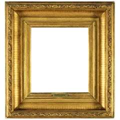 French Giltwood and Gesso Picture or Mirror Frame, Late 19th Century