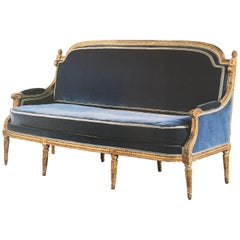 French Giltwood Canapé Attributed to Georges Jacob