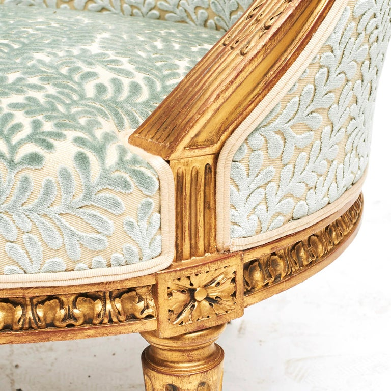 French Giltwood Canapé Sofa in Louis XVI Style, circa 1860 For Sale 6
