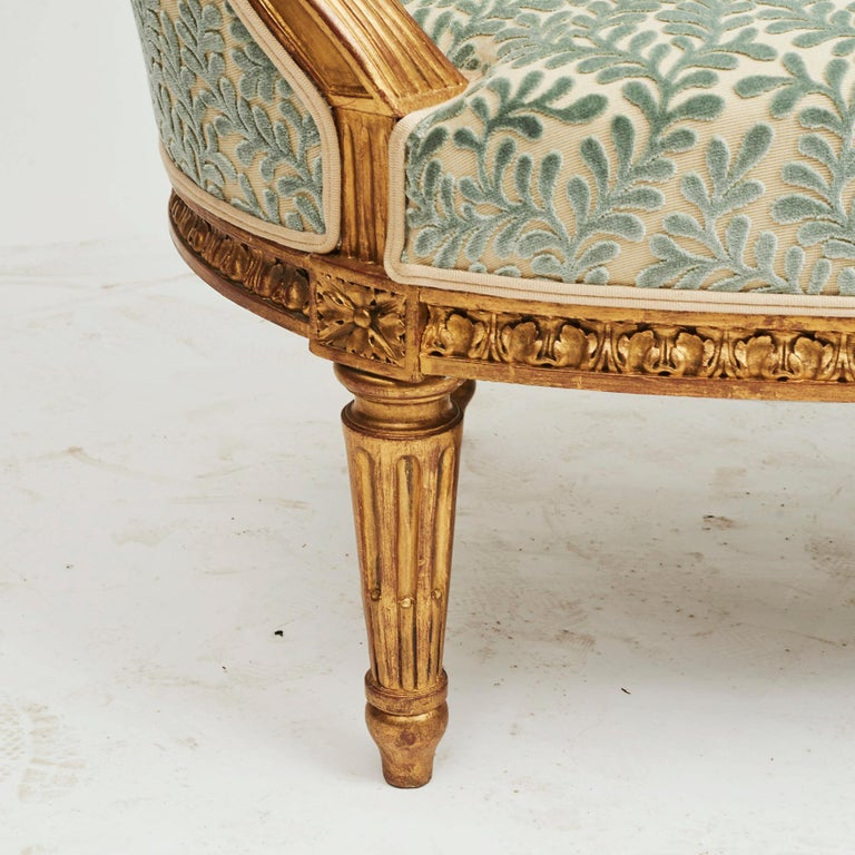 French Giltwood Canapé Sofa in Louis XVI Style, circa 1860 For Sale 7