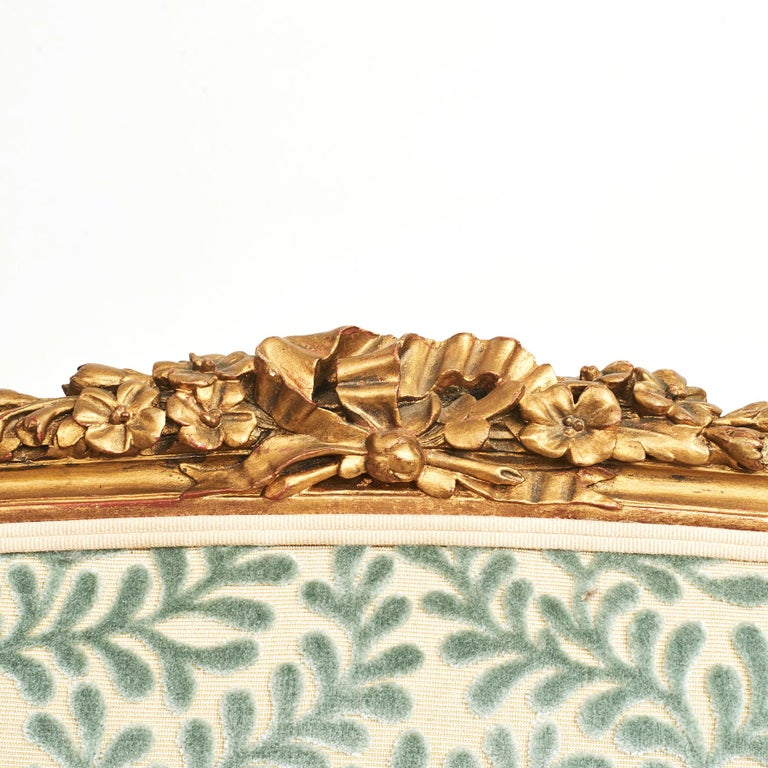 French Giltwood Canapé Sofa in Louis XVI Style, circa 1860 For Sale 9