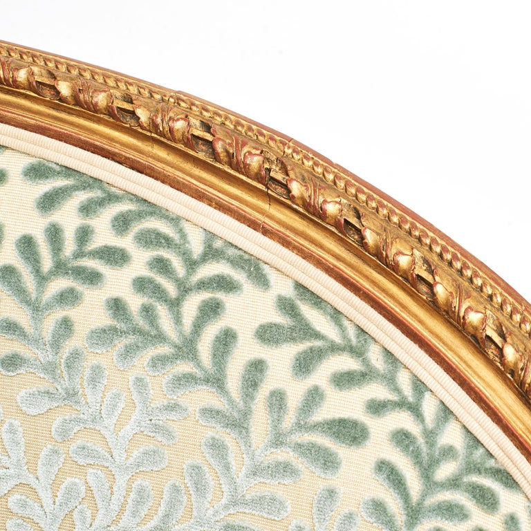 French Giltwood Canapé Sofa in Louis XVI Style, circa 1860 For Sale 10