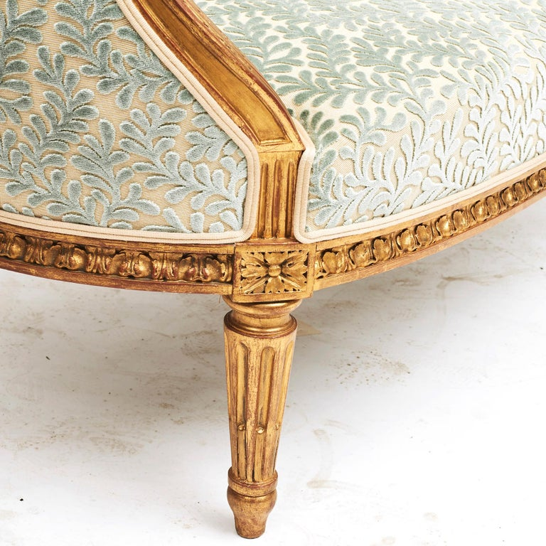 French Giltwood Canapé Sofa in Louis XVI Style, circa 1860 For Sale 12