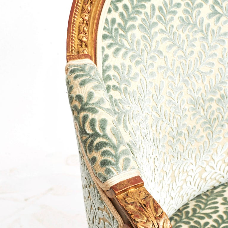 19th Century French Giltwood Canapé Sofa in Louis XVI Style, circa 1860 For Sale
