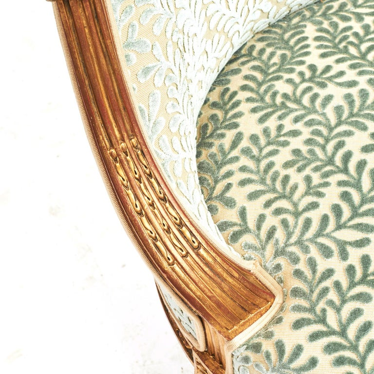 French Giltwood Canapé Sofa in Louis XVI Style, circa 1860 For Sale 1
