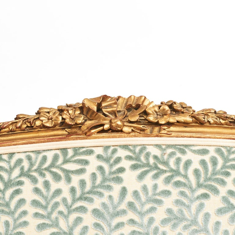French Giltwood Canapé Sofa in Louis XVI Style, circa 1860 For Sale 3