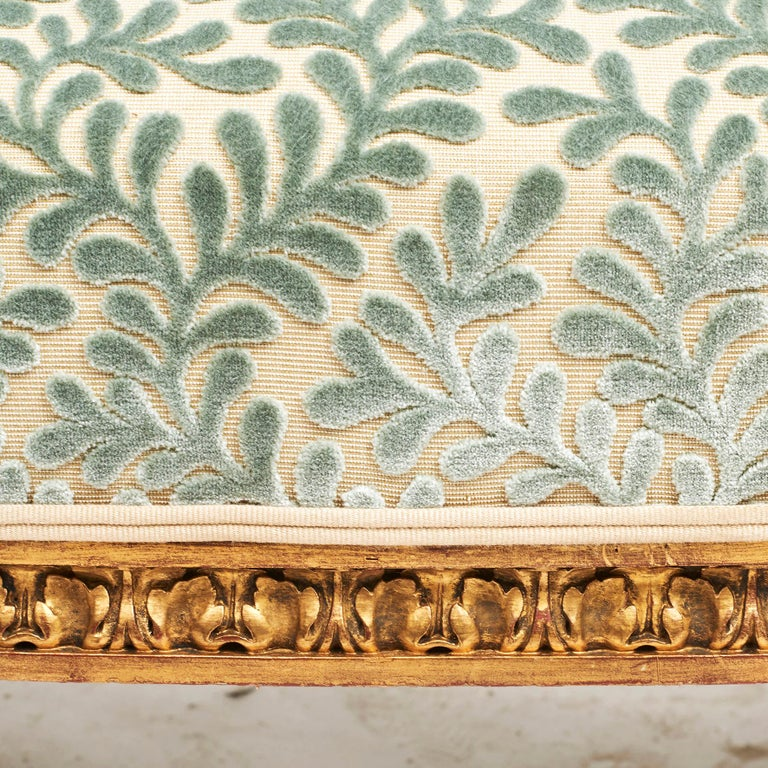 French Giltwood Canapé Sofa in Louis XVI Style, circa 1860 For Sale 4