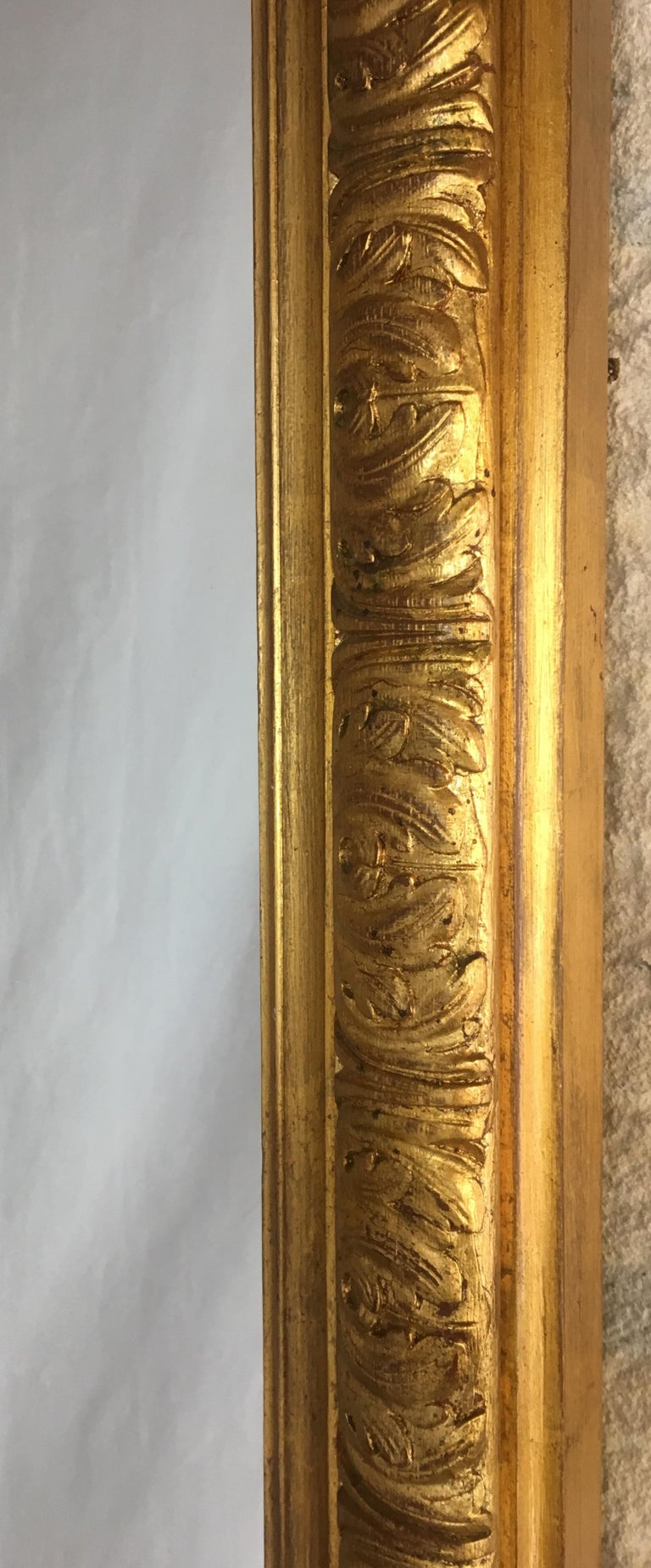 Large French Giltwood Wall or Mantel Mirror For Sale 2