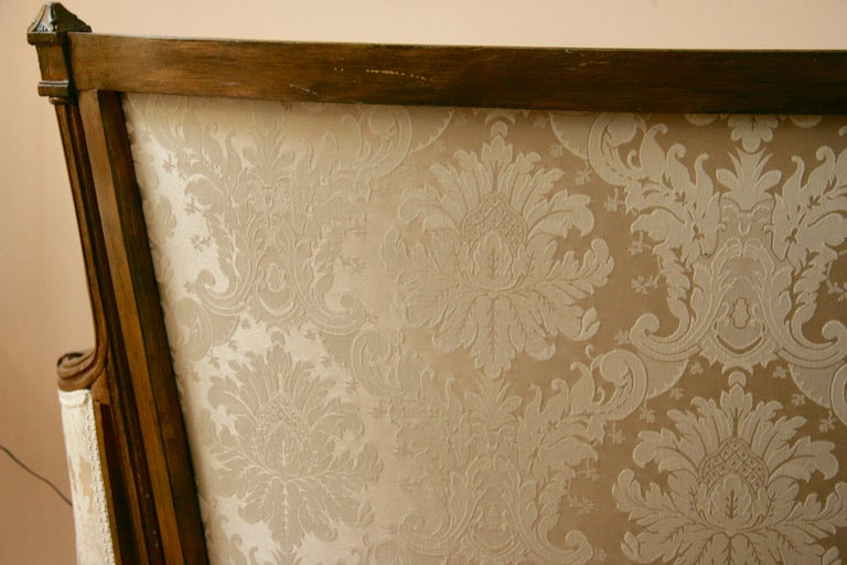 Fabric French Giltwood Sofa Settee For Sale