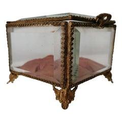 French Glass and Ormolu Wedding Casket, circa 1860