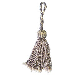 French Glass Beads Decorative Tassel