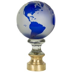 French Glass Boule d'Escalier Globe