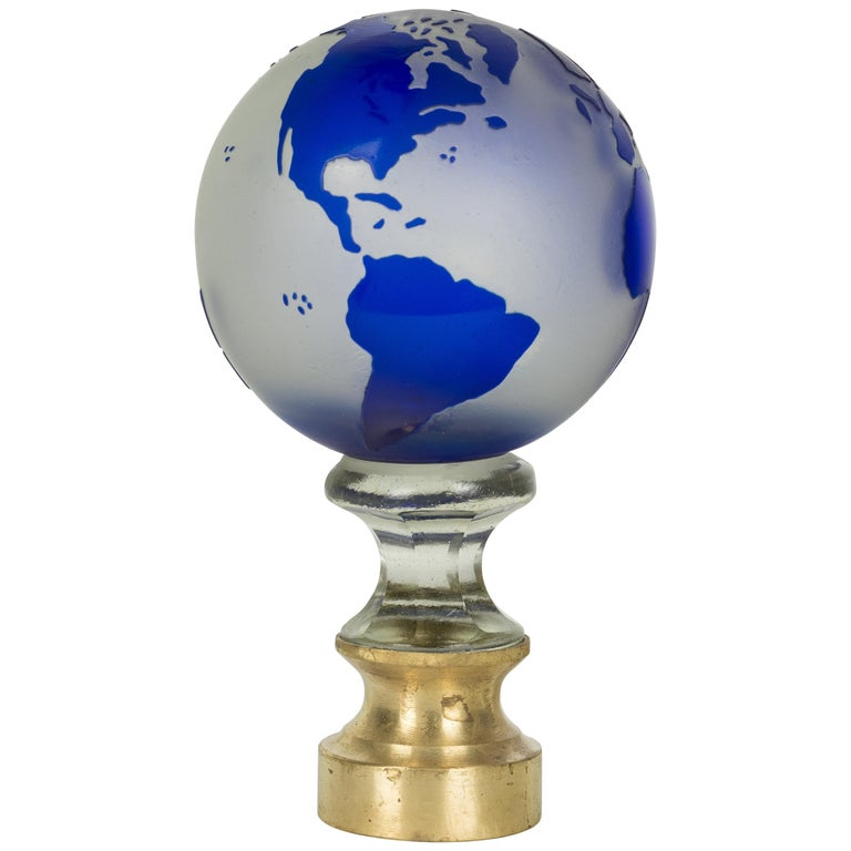 French Glass Boule d'Escalier Globe For Sale