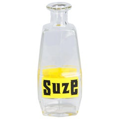 French Glass Carafe Advertising Suze Liqueur, 20th Century