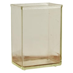 French Glass Tall Rectangular Vase