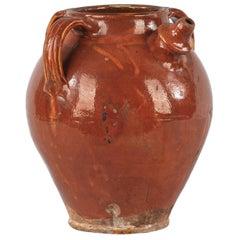 French Glazed Terracotta Water Jar, 19th Century