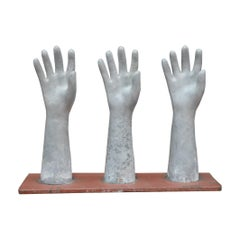 French Glove Factory Mold in Aluminium and Metal, circa 1950
