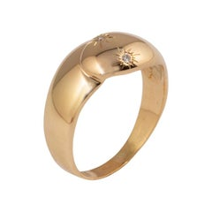 French Gold and Diamond Serpent Ring, 20th Century