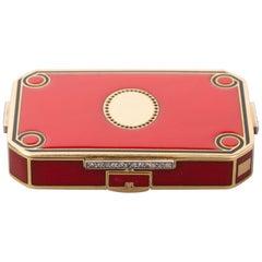 French Gold and Enamel Art Deco Minaudière Box