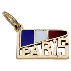 French Gold and Enamel Paris Charm