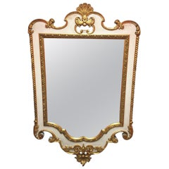 French Gold Leaf and Cream Color Mirror, circa 1890
