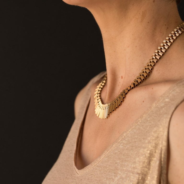 Retro French Gold necklace For Sale