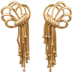French Gold Vintage Earrings