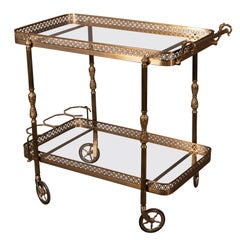 French Golden Brass Trolley