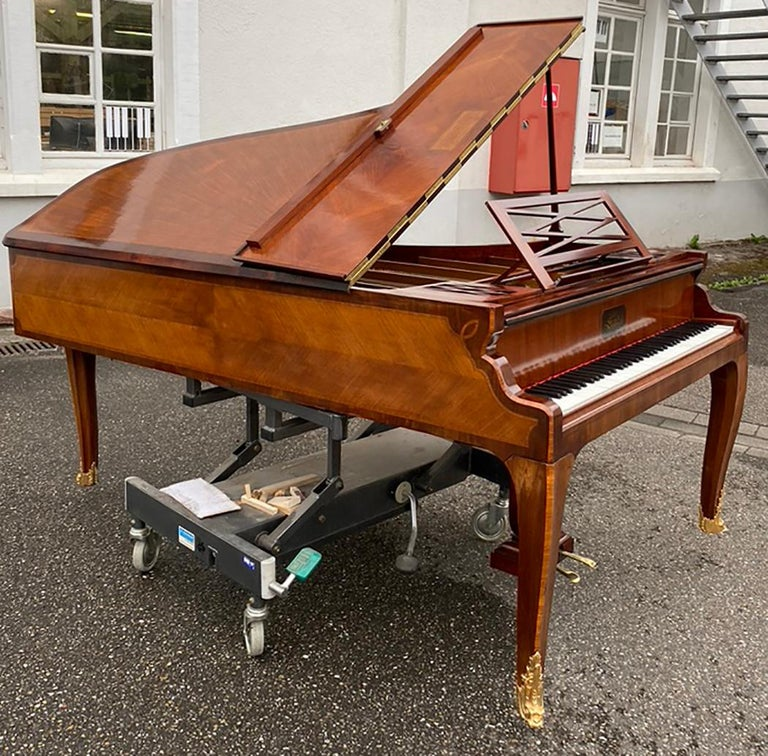 French Grand Piano Mercier Louis XV Ormolu Bronzes Marquetry Mahogany Rosewood  For Sale 5