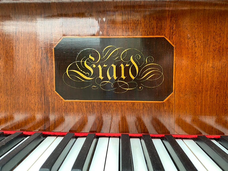 French Grand Piano Mercier Louis XV Ormolu Bronzes Marquetry Mahogany Rosewood  For Sale 8