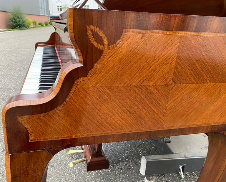 French Grand Piano Mercier Louis XV Ormolu Bronzes Marquetry Mahogany Rosewood  For Sale 10
