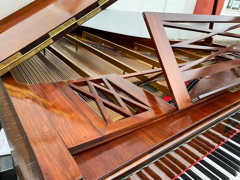 French Grand Piano Mercier Louis XV Ormolu Bronzes Marquetry Mahogany Rosewood  For Sale 11
