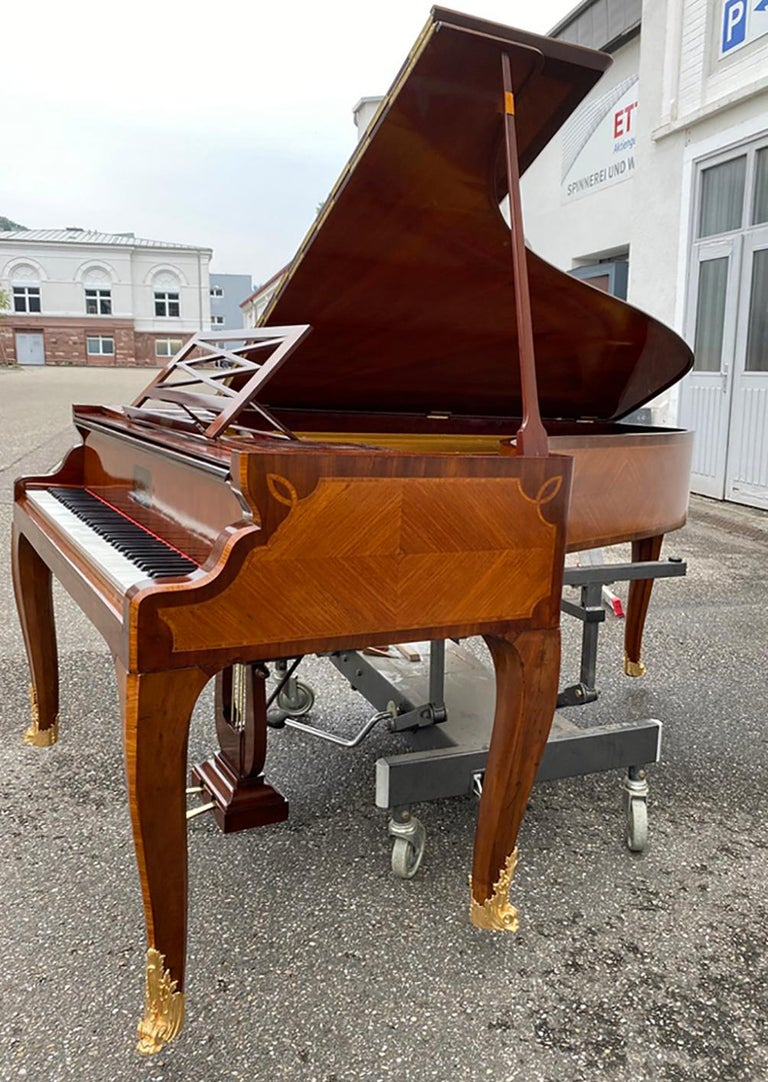French Grand Piano Mercier Louis XV Ormolu Bronzes Marquetry Mahogany Rosewood  For Sale 15