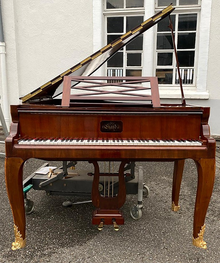 19th Century French Grand Piano Mercier Louis XV Ormolu Bronzes Marquetry Mahogany Rosewood  For Sale