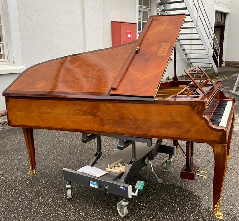 French Grand Piano Mercier Louis XV Ormolu Bronzes Marquetry Mahogany Rosewood  For Sale 1