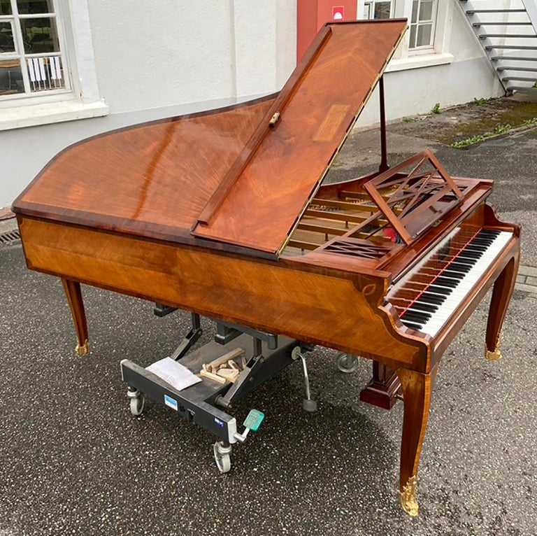 French Grand Piano Mercier Louis XV Ormolu Bronzes Marquetry Mahogany Rosewood  For Sale 2