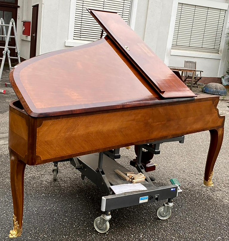 French Grand Piano Mercier Louis XV Ormolu Bronzes Marquetry Mahogany Rosewood  For Sale 3