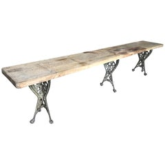 French Grand Scale Console Table