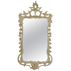 French Gray Vintage Mirror, circa 1940