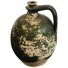 French Green  wine jug