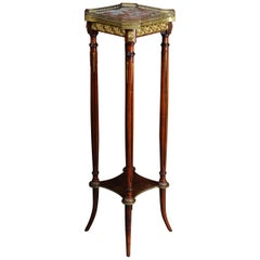 French Gueridon Side Table with Bronze Napoleon III