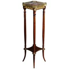 French Gueridon Side Table with Bronze Napoleon III