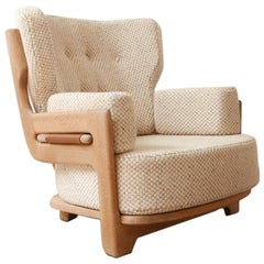 French Guillerme et Chambron Midcentury Armchair