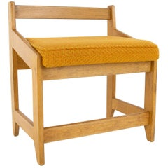 French Guillerme et Chambron Stool, Hungarian Oak, Wool